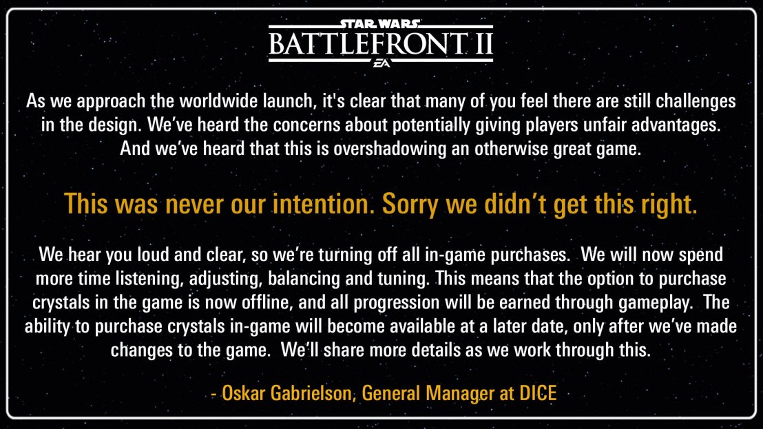 So DICE turned off loot boxes, but…