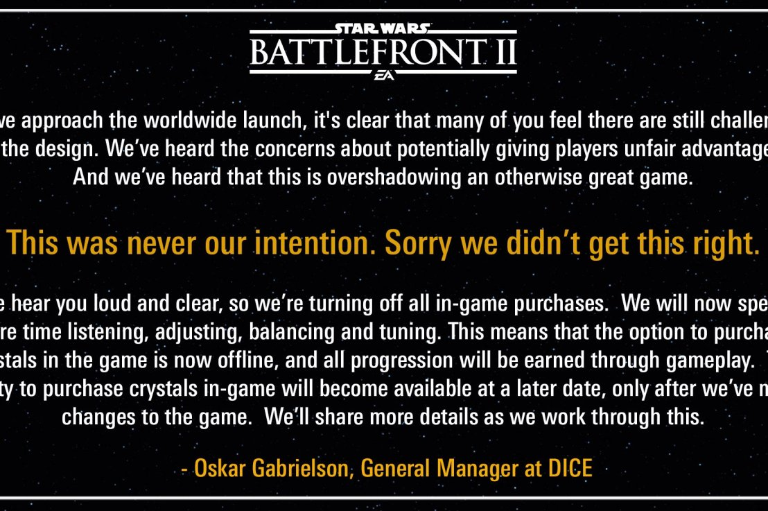 So DICE turned off loot boxes,but…